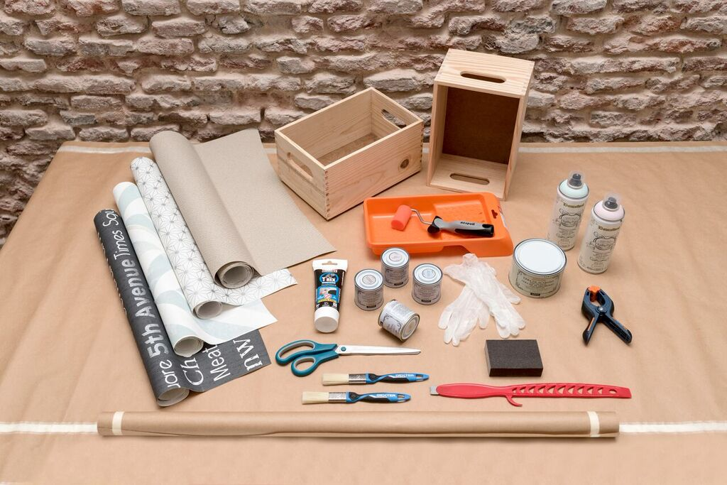cmo decorar cajas de madera con papel pintado
